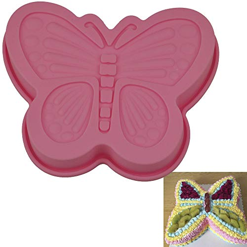 Silicone DIY Cake Bread Butterfly Mold Pan and Baking Bundt Pan for Craft Molds BLUETOP ()