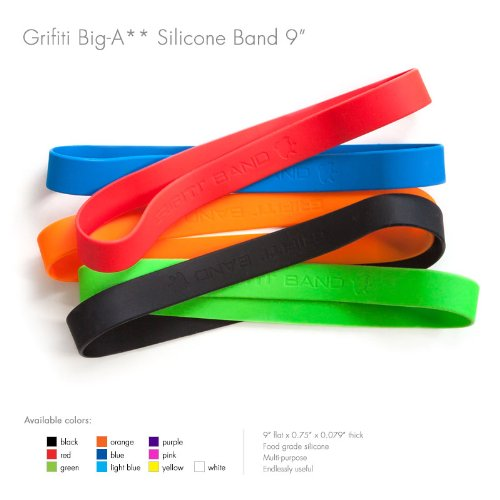 Grifiti Band Joes Standard 9' 5 Pack for Books, Crab Traps, Camera Lens, Art, Cooking, Wrapping, Exercise, Macbooks, Bag Wraps, Dungies Replacements, and Made with Silicone Instead of Rubber or Elastic in 5 Pack of Assorted Colors