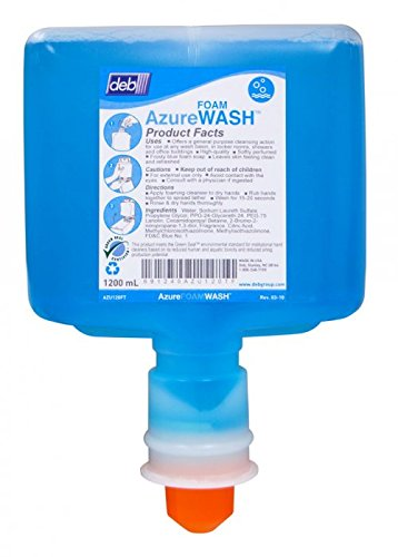 Deb Azure Foam Wash 1200mL Cartridge for Touch Free Dispenser, Box of 2 - AZU120TF
