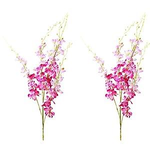 Gumolutin 2 PCS Artificial Silk Flowers for Home Office Indoor Outdoor Wedding Decoration Festive Furnishing 40