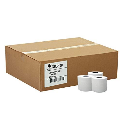 Gorilla Supply 3 X 150' 1-ply Bond Paper 50 Rolls TMU200 SRP275 by Gorilla Supply