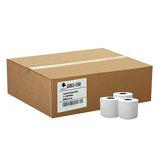Gorilla Supply 3 X 150' 1-ply Bond Paper 50 Rolls TMU200 SRP275