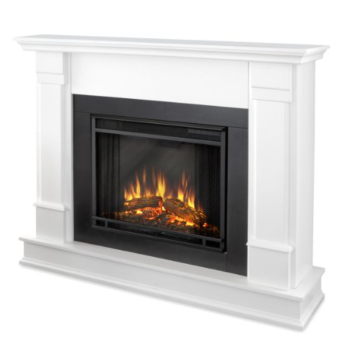 Real Flame G8600E Silverton Electric Fireplace, Medium, White image