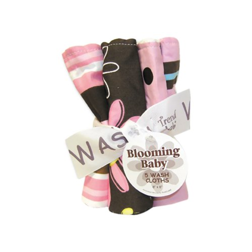 (Trend Lab Bouquet 5 Pack Wash - Maya/Blossoms)