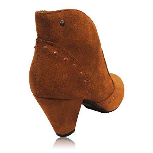 Mustang Damen Tacón Medio Kurzschaft Stiefel Cuero