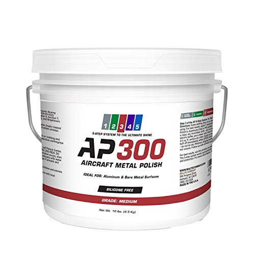 AP300 Aircraft Metal Polish (10lb) - Medium - for Airplane Aluminum & Bare Metal Surfaces, Brightwork, Meets Boeing & Airbus Requirements by Rolite