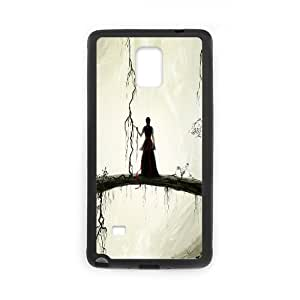 Yearinspace Art bridge in the forest Samsung Galaxy Note 4 Cases natural bridge painting For Girls, Samsung Galaxy Note 4 Cases For Women Hard, {Black}