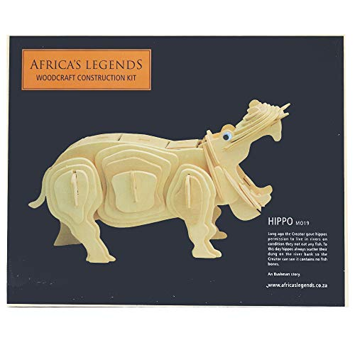 Africa's Legends Woodcraft Construction Kit African Safari Animals Hippo (Construction Woodcraft Kit)