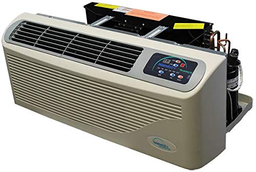 EZ Series 42 Packaged Terminal Air Conditioner, 15000 BTU Nominal Cooling, 277v Hard Wire, Dual Stage 5.0Kw Electric Heat, Unit Mounted Electronic Controls ()