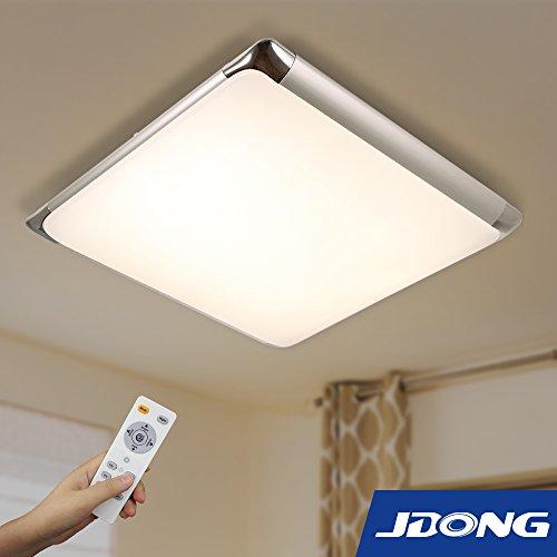 JDONG Moderne LED Deckenleuchte Deckenlampe Dimmbar 24W hohe Lichtdurchlässigkeit steuerbare Farbtemperatur mit Fernbedienung 10511-24W-WJ