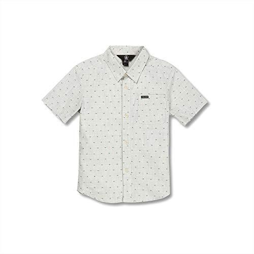 Volcom Little Boys Mark Mix Modern Fit Short Sleeve Shirt, White Flash, 6