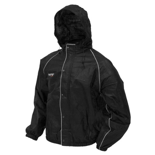 Frogg Toggs Road Toad Jacket, Black, Large