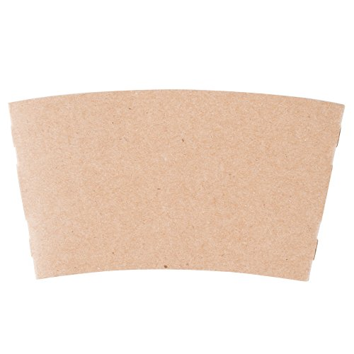 12-24 oz. Natural Kraft Customizable Coffee Cup Sleeve - 1500/Case by TableTop King