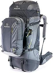 Roamm Nomad 65 +15 Backpack - 80L Liter Internal Frame Pack with Detachable Daypack - Best Bag for Camping, Hi