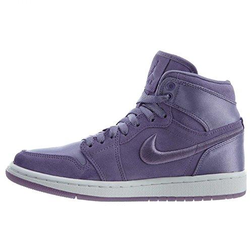 Jordan Nike Women's Air 1 Retro High SOH Purple Earth/White Casual Shoe 10.5 Women US by Jordan