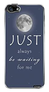 Cute Moon Inspirational Quote Snap-On Cover Hard Plastic Case for iPhone 5/5S (Clear)