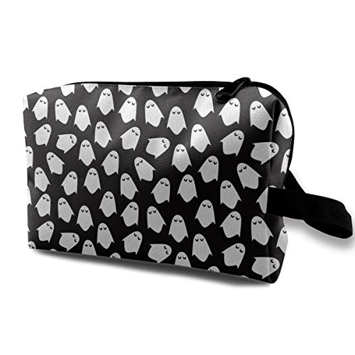 Ghost Halloween Pattern.jpg Makeup Bag Case Portable Comestic Holder Handy Travel Storage Pouch 10