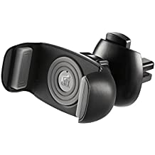 LAX Gadgets - Car Mount Cradle Air Vent – Oyster, Premium, Quality, Strong Sturdy and Secure Phone Holder for iPhone, Android, Samsung, Smartphones