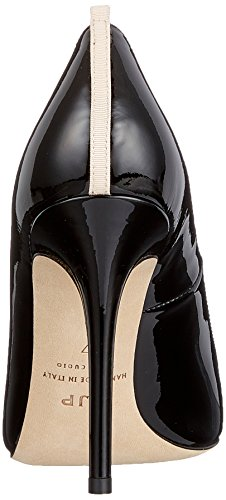 Donna Nero Patent Parker Tacco con Black Fawn Sarah by Scarpe Jessica SJP xRng8zPP