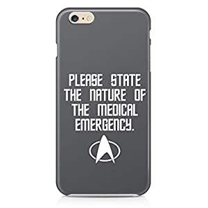 Loud Universe Star Trek Please state quote iphone 6 plus Case Emergency Quote iphone 6 plus Cover with 3d Wrap around Edges