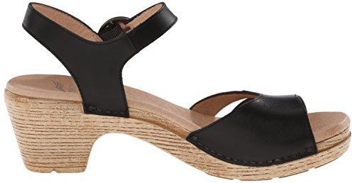 Black Women's Sandal Grain Full Dansko Heeled Marlow dIPtqIwp