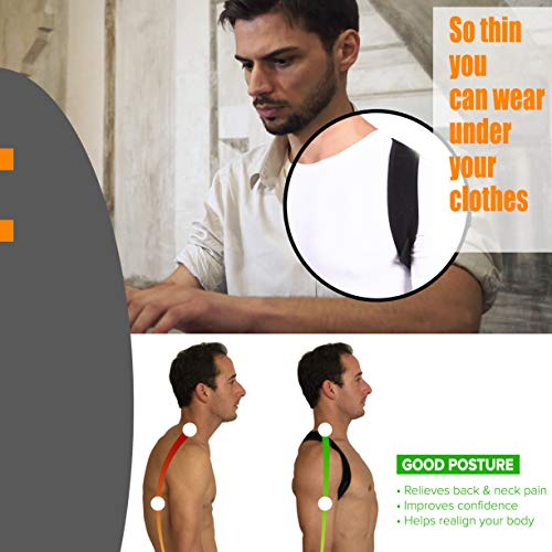 Posture Brace for Women and Men, Comfortable and Sleek Posture Corrector Relieves Back Pain and Improves Posture So You Can Feel Better and Be Happier, Fits Up To 48 Inch Chest by Keffee (Image #3)