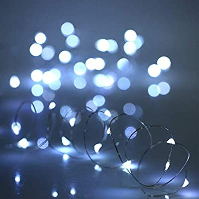 XINKAITE Led string lights waterproof 9.8ft led fairy lights Battery Operated for home, garden, Party, Christmas decoration, Warm White