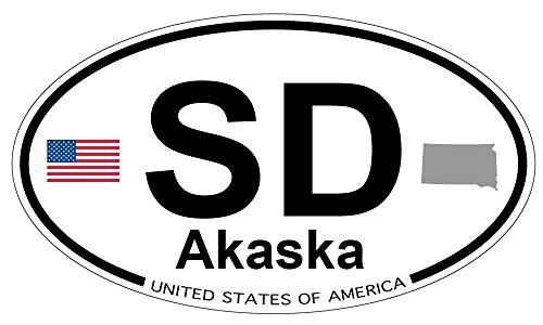 Akaska, South Dakota Oval Sticker