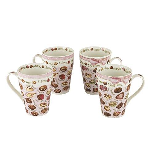 "Cardew Design ""Chocolates"" Mug (Set of 4), 15 oz, Multicolor"