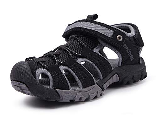 BMCiTYBM Girls Boys Hiking Sport Sandals Toddler Kid Closed Toe Water Shoes Black Size 7.5