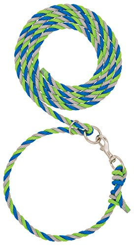 Weaver Leather Livestock Livestock Adjustable Poly Neck Rope, Lime Zest/Blue/Gray, 1/2