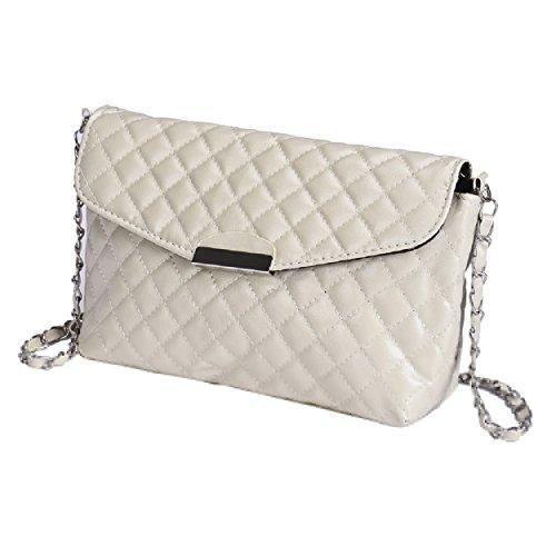 Tonsee? Women's Ladies Designer Pu Leather Style Celebrity Tote Bag Shoulder Handbag Beige