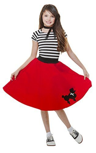 Poodle Dress Child Costume Red - Large