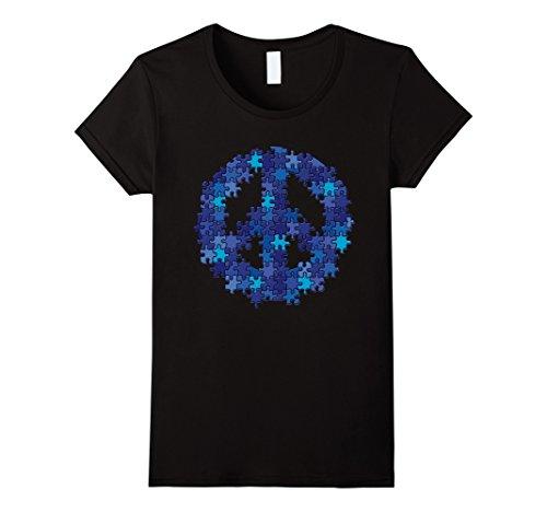 Women's Puzzle Peace Sign Autism Spectrum Asperger Awaren...