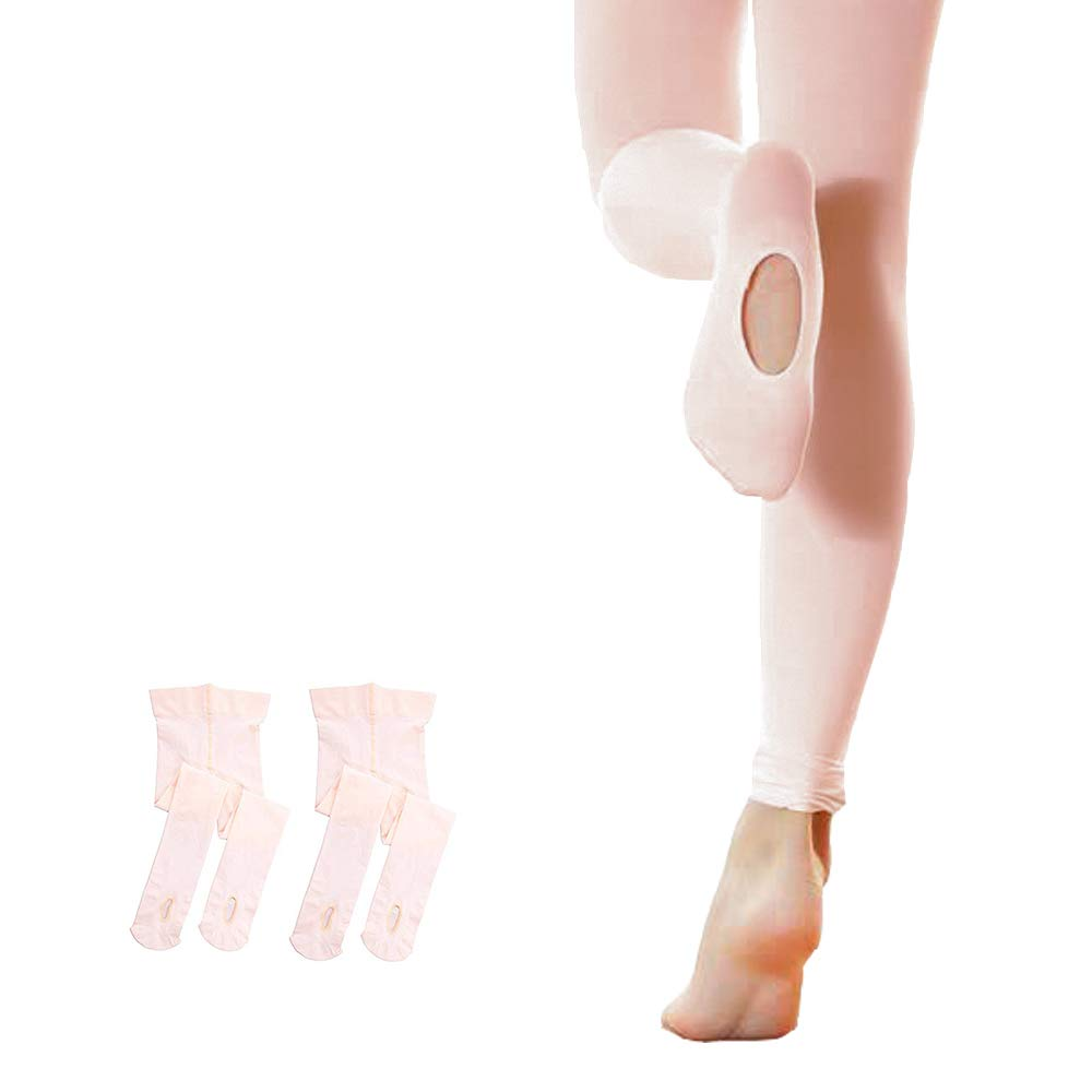 STELLE 2-Pair Girls Ballet Dance Transition Tight (XS, 2-Pair-BP) by STELLE