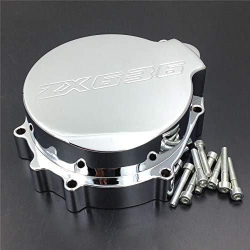 - XKH- Motorcycle Billet Motor Engine Stator Cover Compatible with Kawasaki Zx6R 636 2003 2004 Chrome Left Side [B00Y44RDWG]