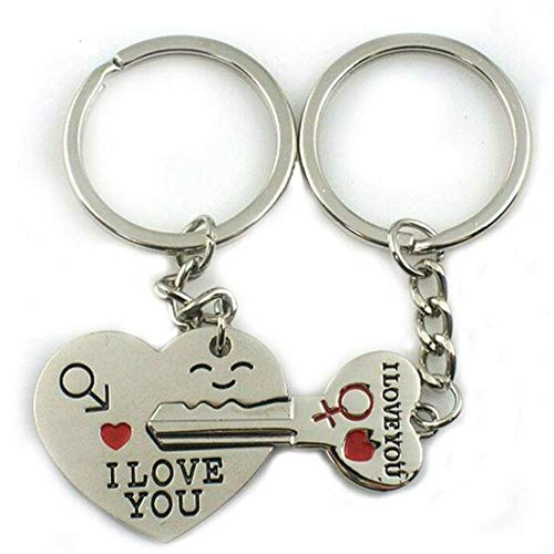 (Keychain Kiseki Valentine's Day Lover Love Key to My Heart Couple Keychain Love Her He Key Ring)