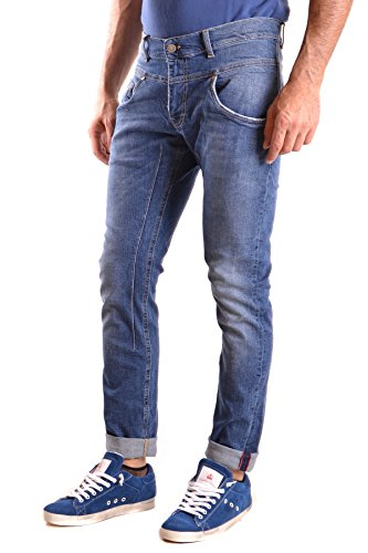 Daniele Alessandrini Herren MCBI086429O Blau Baumwolle Jeans
