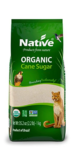 Native USA  Organic White Crystal Cane Sugar, 2.2 Pound Bags (Pack of 6) (Sugar Usa Cane)