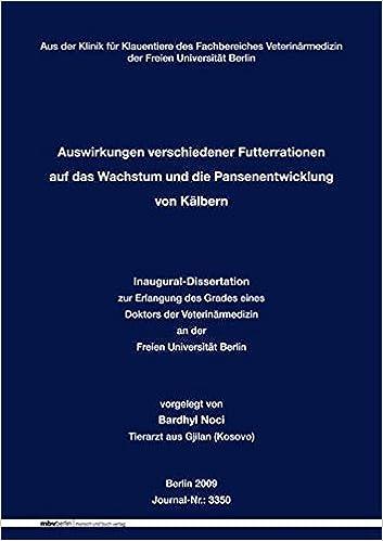 fu berlin dissertation veterinärmedizin