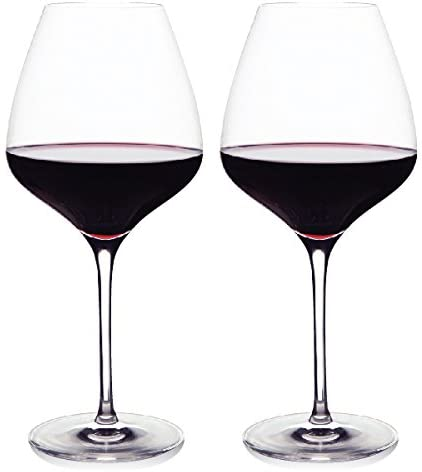 Amazon Com The One Wine Glass Perfectly Designed Shaped Red Wine Glasses For All Types Of Red Wine By Master Sommelier Andrea Robinson Premium Set Of 2 Lead Free Crystal Glasses