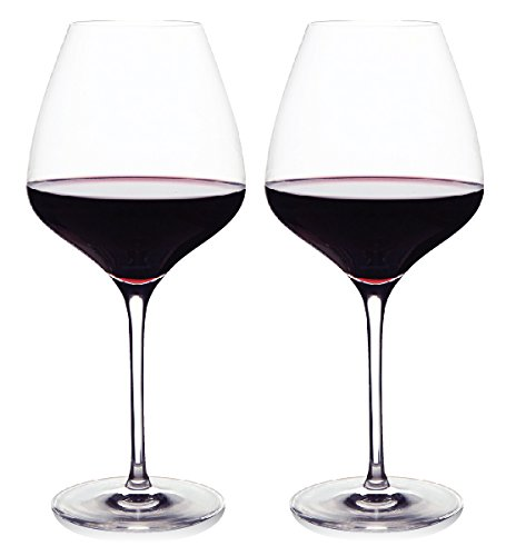 The One Wine Glass - Perfectly Designed Shaped Red Wine Glasses For All Types of Red Wine By Master Sommelier Andrea Robinson, Premium Set Of 2 Lead Free, Crystal Glasses, and Break Resistant (Best Affordable Sauvignon Blanc)
