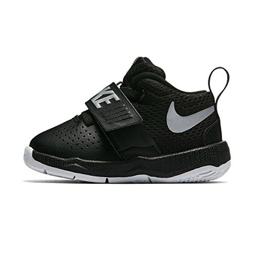 New Nike Baby Boy's Team Hustle D 8 Athletic Shoe Black/White 8
