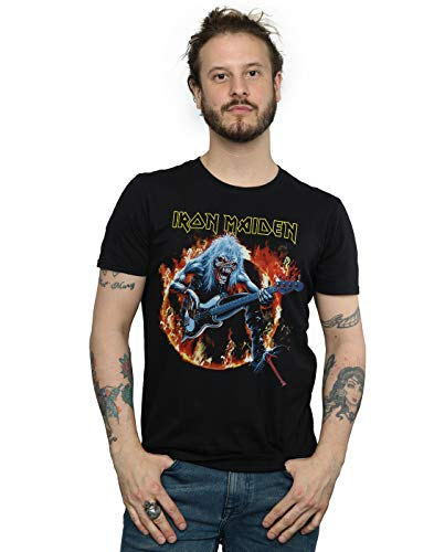 Iron Maiden Men's Fear Live Flames T-Shirt Black XXX-Large