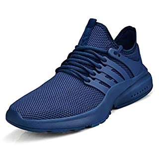 Troadlop Women's Shoes Running Sneakers Work Tennis Walking Non Slip Breathable Gym Athletic Lady Nursing Blue Size 9
