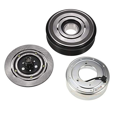 12v Ac Clutch - Catinbow AC Compressor Clutch Assembly Repair Kit with Pulley Bearing, Electromagnetic Coil & Plate for TM31 8 Groove 12 Volt