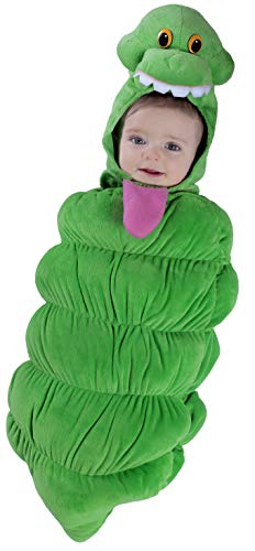 Princess Paradise Baby Boys' Ghostbusters Slimer Swaddle Deluxe Costume, As As Shown, 0/3M