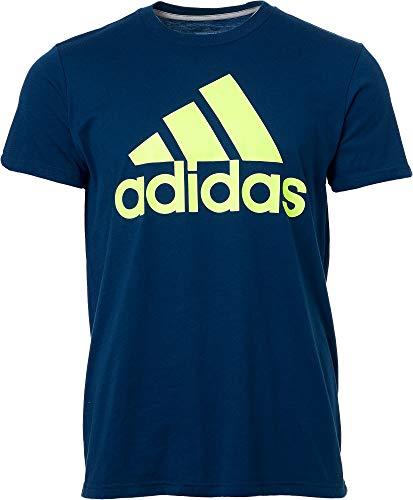 adidas Men's Badge of Sport Classic T-Shirt - Legend Marine/Hi Res YEL, Small