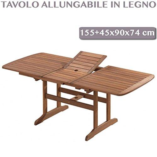 Tavolo Da Giardino Pieghevole E Allungabile.Tavolo Da Giardino In Legno Allungabile Rettangolare Pieghevole