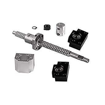 SFU1605-300mm BallScrew BK//BF12 Ballnut Housing For CNC 6.35x10mm Coupler